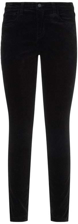 Margueritte High Rise Velvet Trousers
