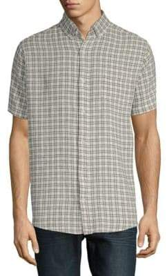 Saks Fifth Avenue Short-Sleeve Plaid Shirt