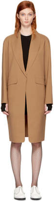 Alexander Wang Tan Oversized Straight Cut Coat