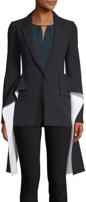 Givenchy Women's Draped Single Button Blazer