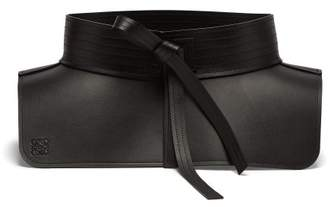 Loewe - Obi Leather Belt - Womens - Black
