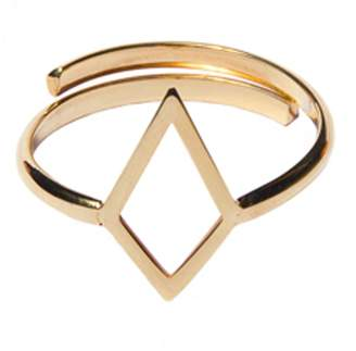 Dutch Basics - Ruit Adjustable Knuckle Ring Gold