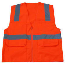 Graintex SV1446 Surveyor's Safety Vest, Orange Color, 4XL