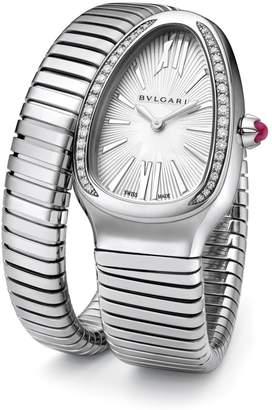 Bvlgari Serpenti Tubogas Stainless Steel & Diamond Single Twist Watch