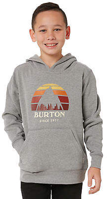 Burton New Boys Kids Boys Underhill Pullover Hoodie Cotton Pu Grey