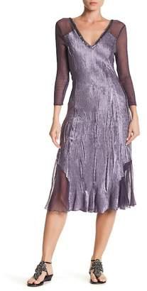 KOMAROV Sequin V-Neck Dress $338 thestylecure.com