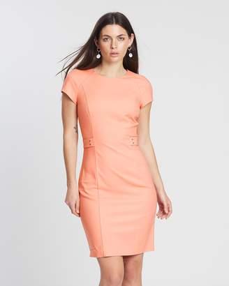 Mng Metallic Applique Cotton Dress