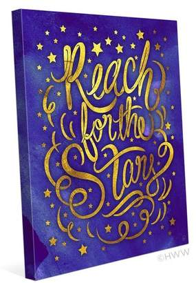Click Wall Art Reach For The Stars Textual Art on Wrapped Canvas