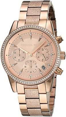 Michael Kors Women's 'Ritz' Quartz Stainless-Steel-Plated Watch