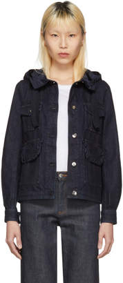 Moncler Navy Denim Resinite Jacket