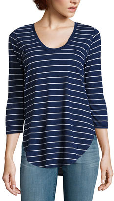 A.N.A a.n.a 3/4 Sleeve Scoop Neck Tee $22 thestylecure.com