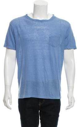Steven Alan Woven Crew Neck T-Shirt
