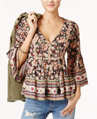 American Rag Juniors' Floral-Print Babydoll Top, Created for Macy's $49.50 thestylecure.com