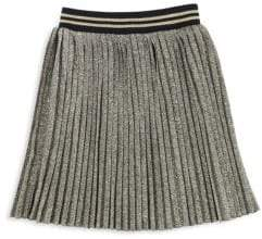 Little Marc Jacobs Girl's Pleated Metallic Skirt