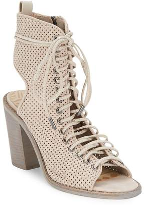 Dolce Vita Women's Lira Sand Perforated Leather Ankle Boots