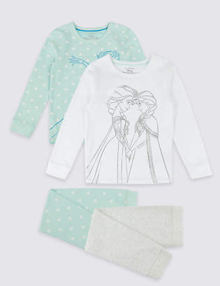 Marks and Spencer 2 Pack Disney Frozen Pyjamas with Stretch (2-10 Years)