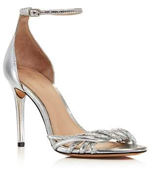 Rachel Zoe Women's Aubrey Metallic Leather High-Heel Sandals