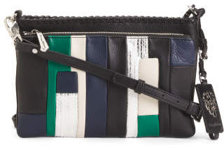 Leather Dual Compartment Crossbody