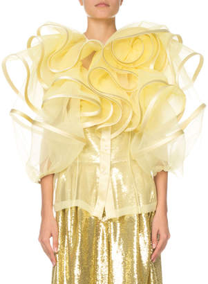 Marc Jacobs Ruffled Organza Top