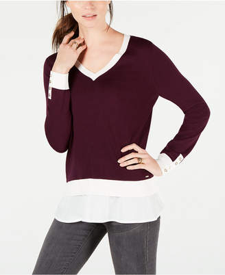 Tommy Hilfiger Layered-Look V-Neck Sweater