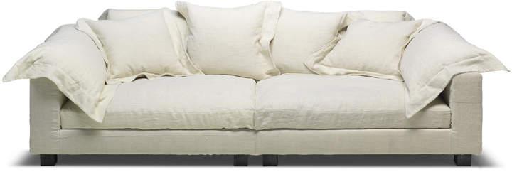 Diesel Living - Nebula Nine Sofa, 220 x 110 cm, Leinen gewaschen, white bone