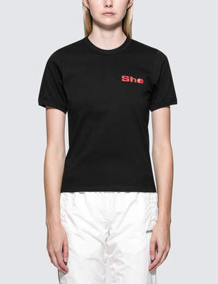 """Misbhv She"""" Fitted S/S T-Shirt"""