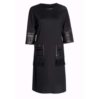 Nissa - Casual Dress with Faux Leather Pockets