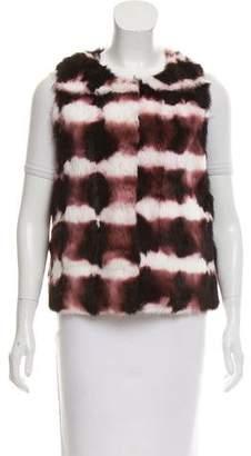Haute Hippie Printed Fur Vest