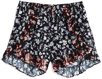 Aqua Girls' Ruffled Floral Shorts, Big Kid - 100% Exclusive