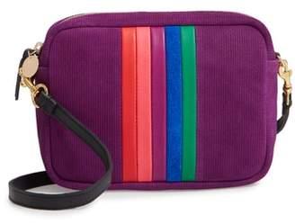 Clare Vivier Midi Sac Rainbow Stripe Corduroy Crossbody Bag