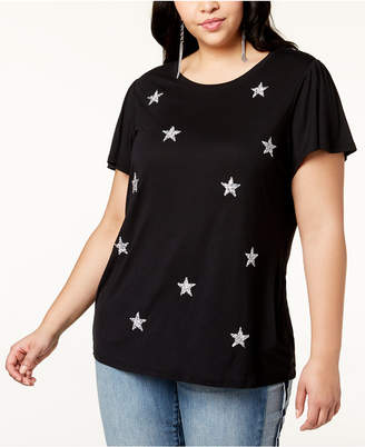INC International Concepts I.n.c. Plus Size Embellished Star T-Shirt, Created for Macy's