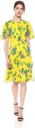 Calvin Klein Women's Chiffon Printed Caplet Dress