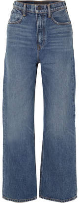Alexander Wang Crush High-rise Wide-leg Jeans - Mid denim