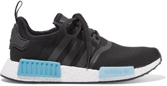 adidas Originals - Nmd_r1 Rubber-paneled Primeknit Sneakers - Black $130 thestylecure.com