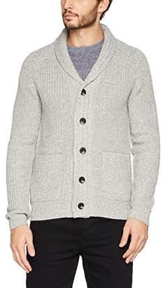 Burton Menswear London Men's Long Sleeved Cardigan,Large (Size: L)