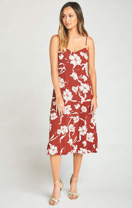 Show Me Your Mumu Carissa Dress ~ Bloom Maple Crinkle Stretch