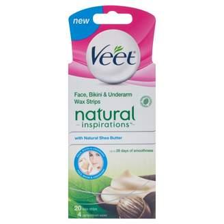 Veet Natural Inspirations Shea Butter Facial Wax Strips 20 pack
