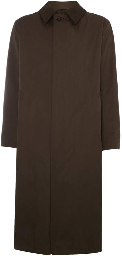 Bugatti Men's Long length trench coat with detachable collar