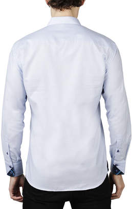 Maceoo Men's Shaped-Fit Diagonal-Poplin Sport Shirt
