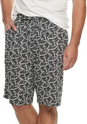 Croft & Barrow Big & Tall Printed Knit Sleep Shorts