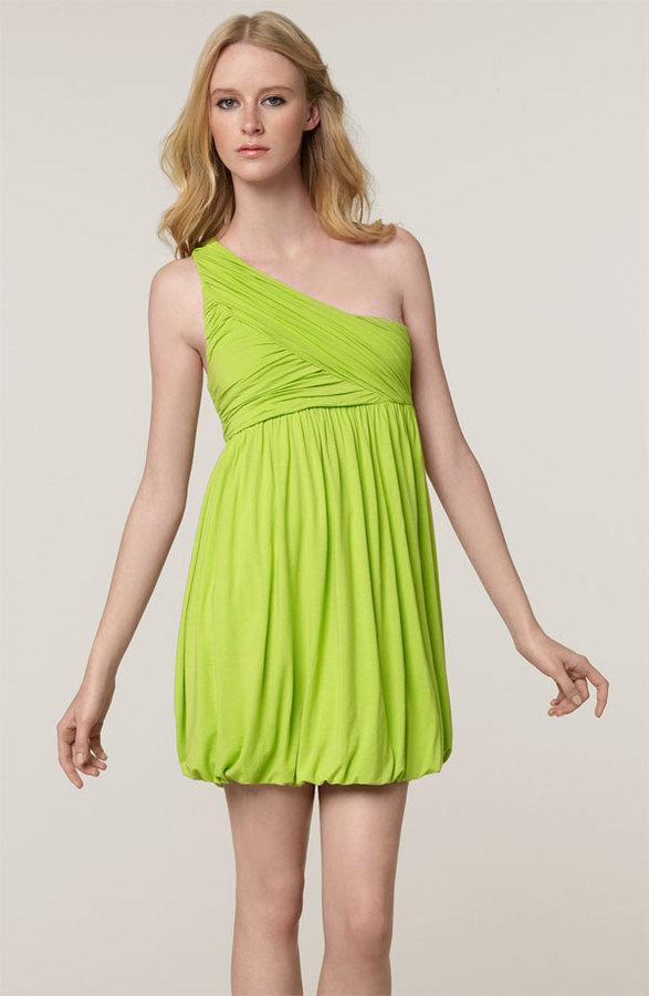 Alice + Olivia One Shoulder Jersey Dress