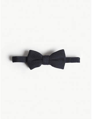 Eleventy Textured wool bow tie