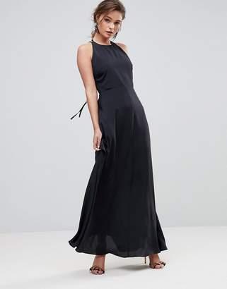 Asos Open Back Halter Maxi Dress