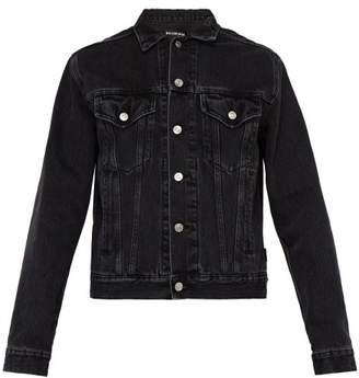 Balenciaga Washed Denim Jacket - Mens - Black