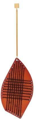 Roksanda Thread-detail wooden-drop single earring