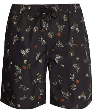 Saturdays NYC Timothy Laquer Butterfly Print Swim Shorts - Mens - Black Multi
