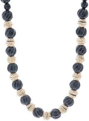 "Judith Ripka Verona 14K Gold Beaded 18"" Necklace"