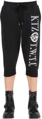 Kokon To Zai Cropped Embroidered Cotton Jogging Pants