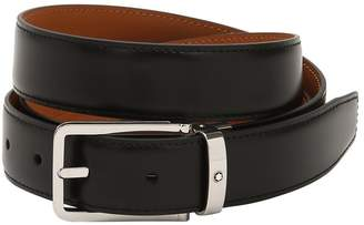 Montblanc 30mm Rectangular Leather Belt