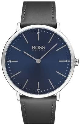 BOSS Horizon Leather Strap Watch, 40mm